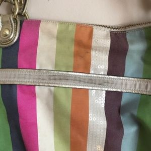 Coach Bags - Coach   Poppy Legacy Stripe Glam Tote 19021